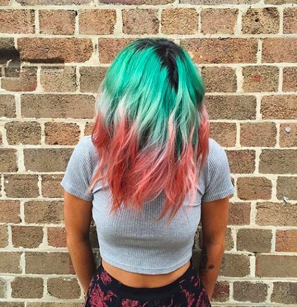 1-Trending-WatermelonHair-Hairstyles-Hairdye-Fashion-RedGreen-Colours