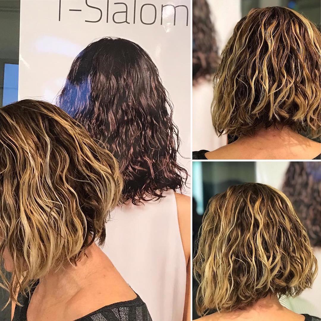 Permanente pelo corto mujer